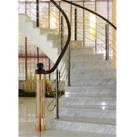 Quality Chrome Color 304 Grade Stainless Steel Stair Handrail With Satin Polish for sale