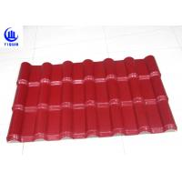 China Embossed Surface Red Synthetic Resin Roof Tile 219 mm Pitch Size on sale