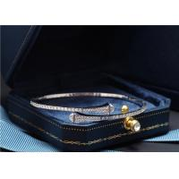 China marli jewelry instagram CLEO-B1 18K Marli Cleo Diamond Slip On Bracelet wholesale