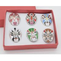 China Peking Opera Mask Metal Pin Badge wholesale