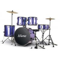 Buy cheap 5 Piece Acoustic Percussion Adult Drum Set With cymbal and throne A525P-901 from wholesalers