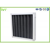 China Active Carbon Replacement Air Filter 800 - 3200 M³/H Rated Air Flow Panel Odor Remover wholesale