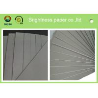 Quality Recycled Paper A4 Grey Chipboard Paper Sheet / Roll Good Stiffness for sale
