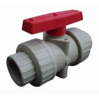 China White PP Housing and Red PP Handle Ball Valve Widely Used in Pump wholesale