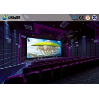 China Flat / Arc Screen Movie Theater Seats Sound Vibration Cinema Theater With Special Effect wholesale