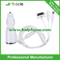 China car charger with cable for iphone6/5/iphone4/HTC/Sumsung wholesale