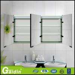 China aluminum bathroom mirror cabinet bathroom wall cabinet wholesale