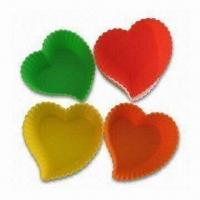 China Heart-shaped Cake Pans, Made of 100% Food Grade Silicone, European Standard, OEM Orders Accepted wholesale