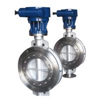 China Bare stem  high temperature metal seat triple eccentric butterfly valve on sale
