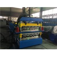 China 2 Layer Glazed Tile Roll Forming Machine With 5 Ton Manual Decoiler wholesale