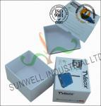 China Corrugated Coated Paper Electronics TV Packaging Boxes White Color Matt Lamination wholesale