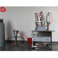 China Styling Gel Semi Automatic Aerosol Filling Machine , Hair Spray Aerosol Spray Fillers wholesale