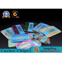Marble Acrylic Crystal European Casino Poker Chips / Wear Resistance Casino for sale