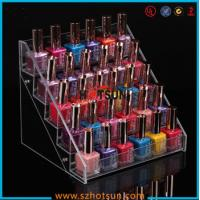 China Clear Acrylic Nail Polish Display Stand, 5 tier nail polish display rack wholesale