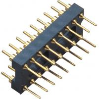 Buy cheap 2.54mm 20P IC Socket Connector  Round Pin Header PCB plate H=3.0 Black ROHS from wholesalers