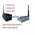 China 1.2GHz 3W wireless AV transmitter receiver wholesale