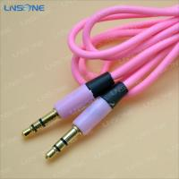 China Gold plated Pink color 3ft 3.5mm plug stero cable wholesale
