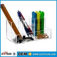 China Hot Selling 2016 clear acrylic Desk Organizer Stationary Products wholesale
