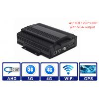 China 2TB HDD 3G / 4G WIFI GPS G - sensor Car Mobile DVR 4CH AHD 720P Vehicle MDVR wholesale