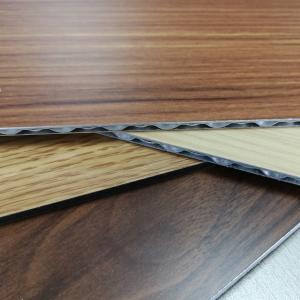 China 3-6mm Aluminum Core Panel Wood Grain Fireproof Interior Exterior Decoration wholesale