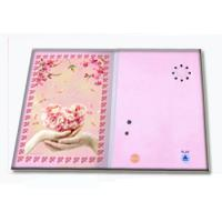 China Pre - recorded Musical Greetings Cards Recordable Greeting Card with customized music wholesale