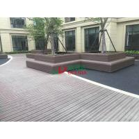 Quality Wood Plastic Clow Maintenance Decking With Groove Surface , Waterproof Plastic Timber Decking for sale