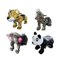 China Plastic Mini Park Animal Joy Coin Operated Horse Ride / Kids Electric Cars on sale