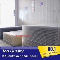 China 3D Lenticular Sheet materials 70LPI PET 0.9MM 60X80CM for 3d lenticular printing by injekt print and UV offset print wholesale