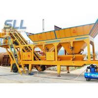 China Twin Shaft Mini Mobile Concrete Batching Plant For Construction Machinery wholesale