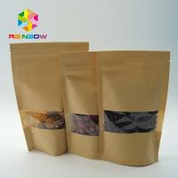 China Logo Kraft Paper Tea Bags Packaging , Zip Lock Stand Up Bags And Pouches wholesale
