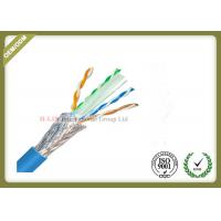 Quality 1000ft Cat6 SFTP Network Cable , 23AWG Cat6 Internet Cable With PVC / LSZH Jacket for sale