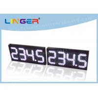 12 Inch Digits Led Gas Station Signs , Gas Station Led Signs Double Sides 3 Lines