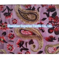 China Upper Market Polyester Velvet Stretch Silk Fabric Silk Burn Out Flowers Leopard wholesale