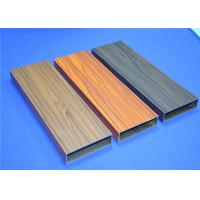 China Wood Grain Aluminium 6063-T5 Window Profiles 60 - 80 Um For Dinner Room wholesale
