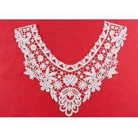 China OEM Floral Guipure Lace Collar Applique With Heavy Embroidery By OEKO TEX 100 wholesale