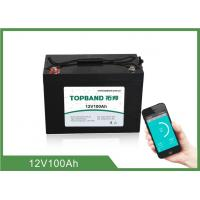 China ABS Casing Bluetooth Lithium Battery 12V 100Ah For RV Camper / Caravan wholesale