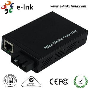 Quality E- Link Single Mode SC Fiber Ethernet Media Converter 10 / 100 / 1000Mbps for sale