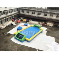 China Door Close To Door Outdoor Inflatable Soap Football Arena , Inflatable Water Football Pitch With Bottom wholesale