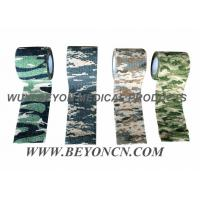 China Camouflage Cohesive Wrap Sports Strapping Tape For Wrapping Joints And Muscles wholesale