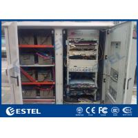 China Two Compartments Air Conditioning Outdoor Telecom Cabinet For Equipments And Batteries wholesale