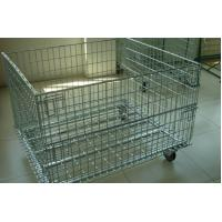 China Wire Mesh Container with Removable Wheel wholesale