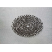 China 6''X6'' Round BBQ Stainless Steel Chainmail Scrubber on sale
