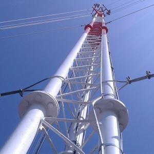 China Three Tube Utility Service 138 Kv Telescopic Antenna Mast on sale