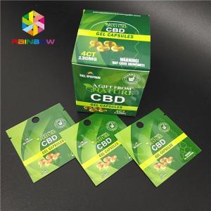 China Digital Printing Herbal Incense Packaging CBD Gummy Natural Hemp Gummies Candy Bag wholesale