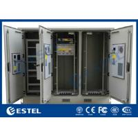 China Three Compartment Waterproof Telecom Equipment Outdoor Cabinet With High Performance Cooling System wholesale