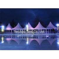 China Outdoor Activity Pagoda Tents 6 X 6 M Aluminum Frame Glass Wall High Peak Tent on sale