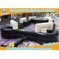 China Black 0.55mm PVC Inflatable Football Pitch Billiards Table Snooker Ball Game For Soccer Bubble wholesale