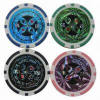 China Custom Poker Chips, Customized Stickers are Accepted wholesale