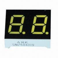 China Seven Segment LED Numeric Display in Dual-digit with Yellow/Amber, 0.40-inch Digit Height wholesale