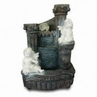 China Water Fountain, Made of Polyresin, Measures 23 x 18 x 33cm, Used to Decorate Home and Garden on sale